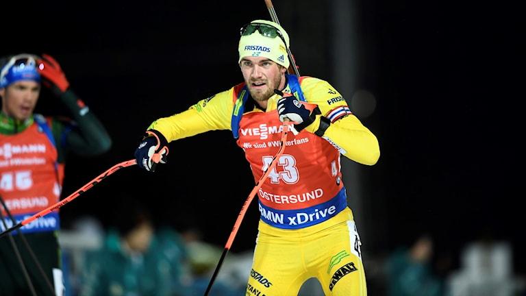 Fredrik Lindström fanns med i det svenska stefettlaget.