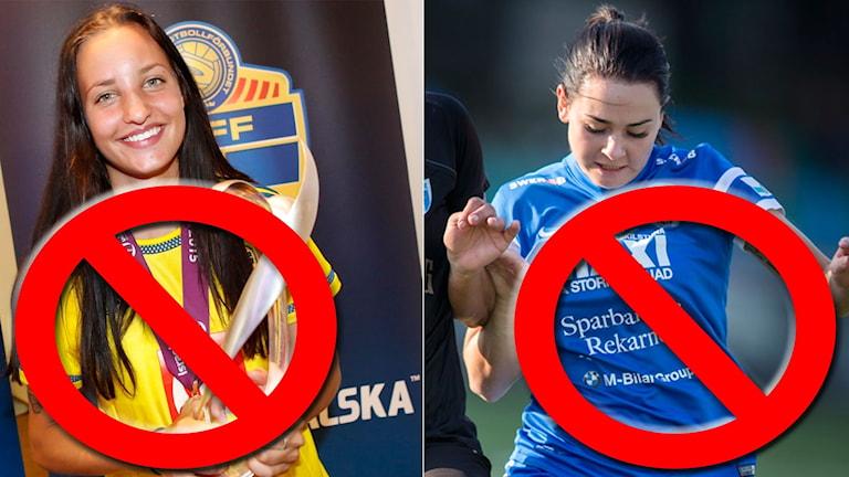 Nathalie Björn och Emma Jansson stoppas från U20-VM.