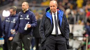 Italiens förbundskapten Gian Piero Ventura före fredagens VM-kvalmatch i fotboll mellan Sverige och Italien på Friends arena.