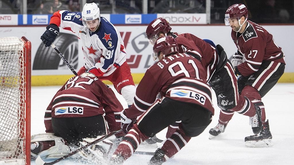 Arkivbild: Dinamo Riga i KHL-spel.