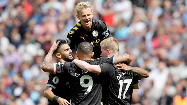 Manchester City jublar.
