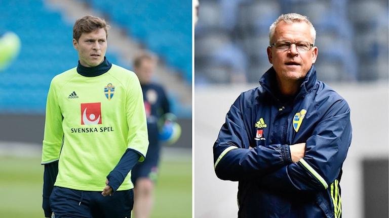 Victor Nilsson Lindelöf och Janne Andersson.