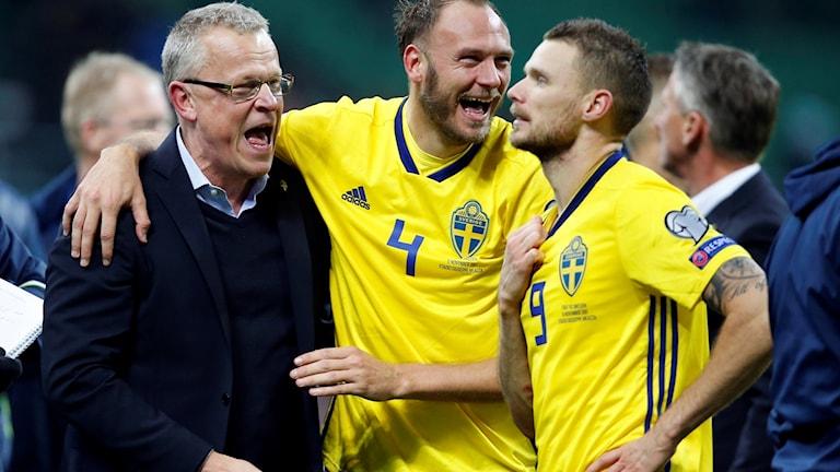 Sveriges förbundskapten Janne Andersson efter playoff-segern.
