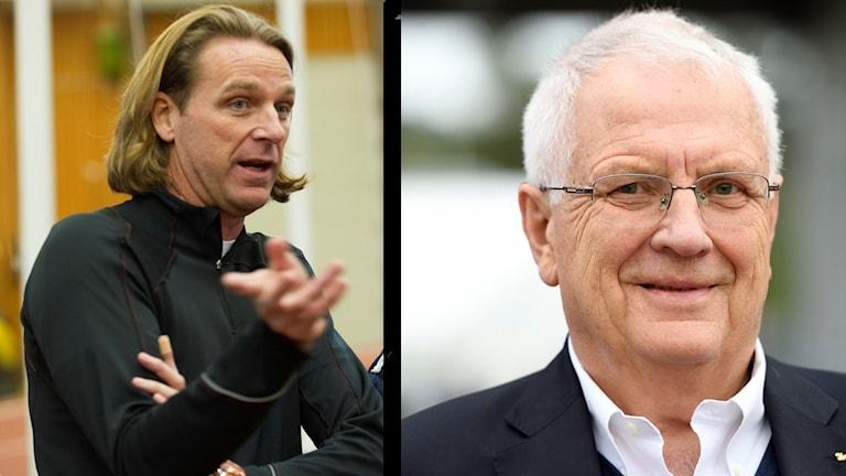 Patrik Sjöberg och Svein-Arne Hansen. Montage.