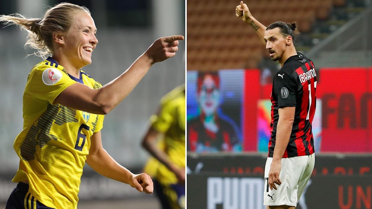 Magdalena Eriksson och Zlatan Ibrahimovic.