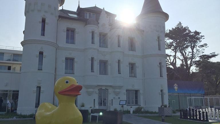 Spelarhotellet Château de Tourelles.