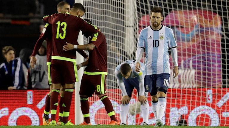 Argentina spelade 1-1 mot Venezuela