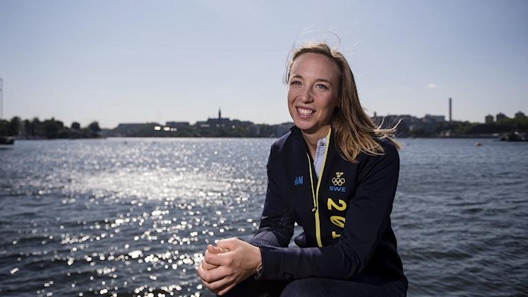 STOCKHOLM 20160530 Josefin Olsson vid en pressträff med olympiska seglarlandslaget.  Foto: Vilhelm Stokstad / TT