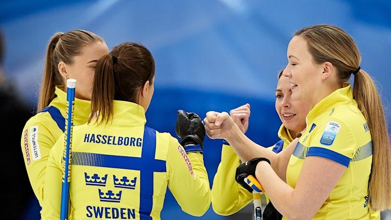 Sveriges Lag Hasselborg i curling-EM.
