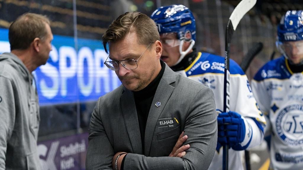 Leksands huvudtränare Björn Hellkvist