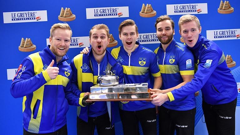 Från vänster: Niklas Edin, Rasmus Wranå, Christoffer Sundgren Oskar Eriksson och Daniel Magnusson.