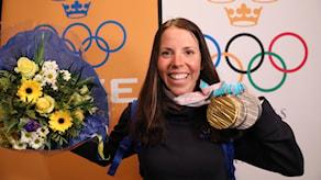 Kalla med sina OS-medaljer