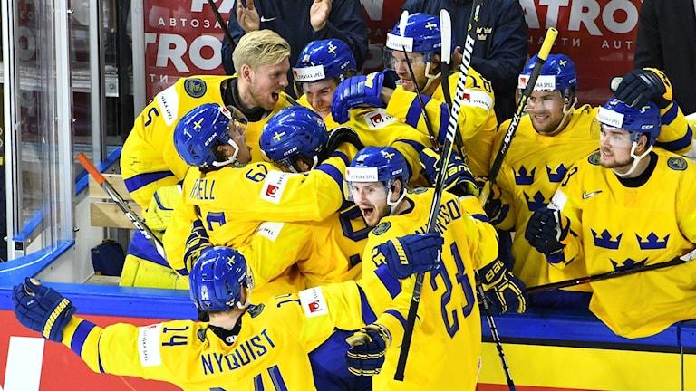 VM-guld till Tre Kronor.