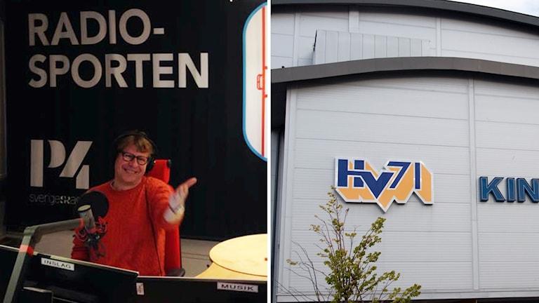 Radiosporten sänder direkt från Jönköping. Foto: SR och TT