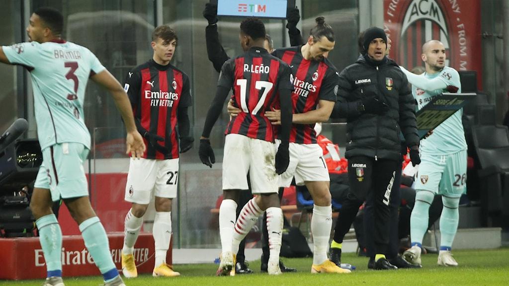 Zlatan byts in i slutminuterna mot Torino.