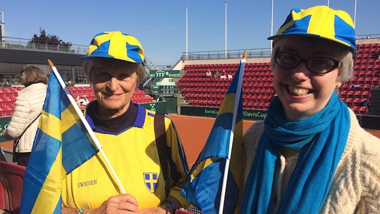 Brittiska svenska Davis Cup-fans. Foto: Patric Ljunggren/Sverige Radio
