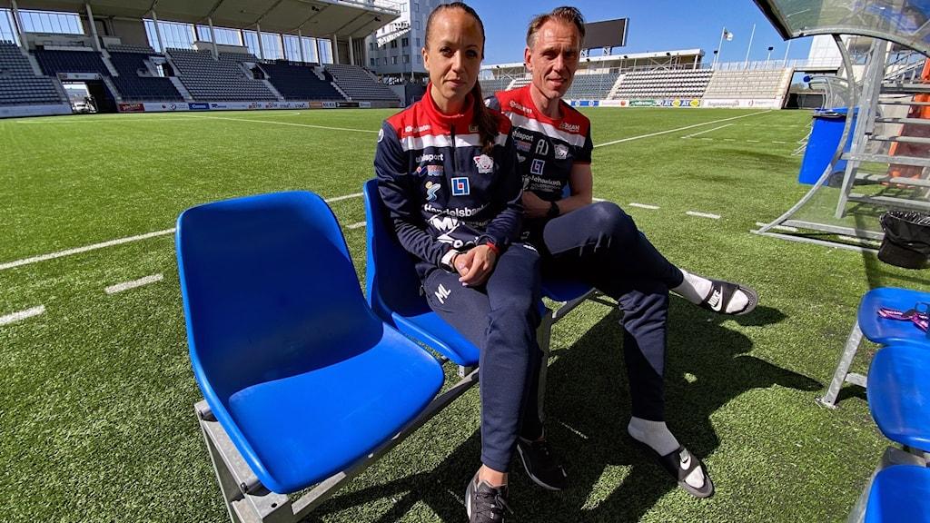 Linköpings nya tränarduo Malin Levenstad (assisterande) och Andrée Jeglertz.