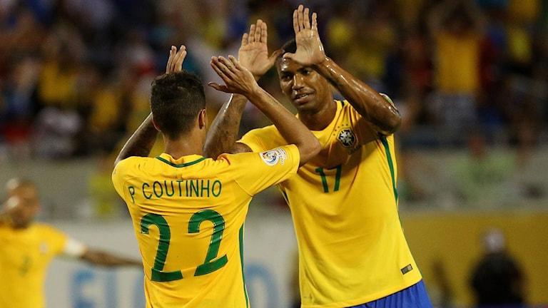 Brasilien besegrade Haiti.