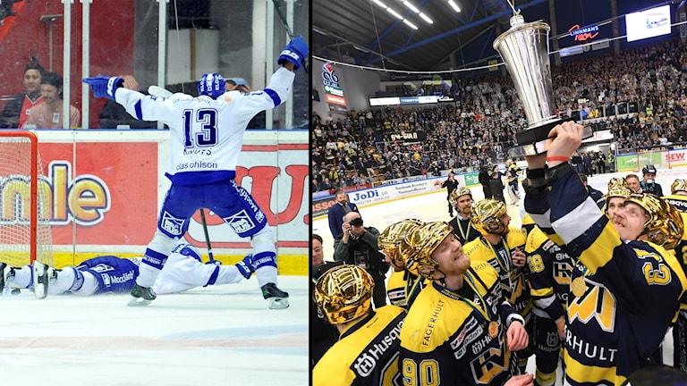 Leksand–Mora och HV71–Brynäs är två matchserier som har gått till en sjunde och avgörande match.