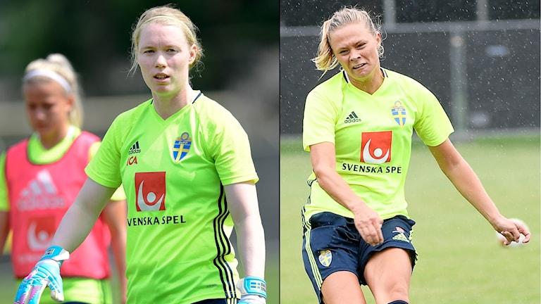 Hedvig Lindahl och Fridolina Rolfö ställs mot varandra i Champions League.