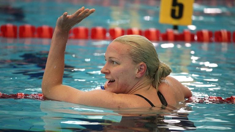 Sarah Sjöström slog nytt svenskt rekord