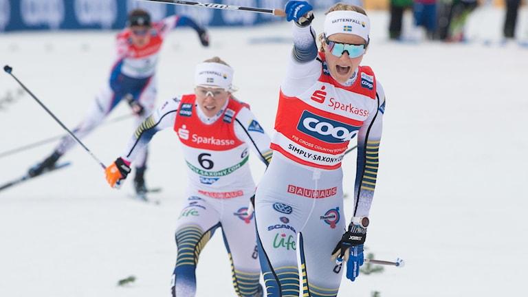 Stina Nilsson tog i Dresden sin fjärde raka seger denna vinter.
