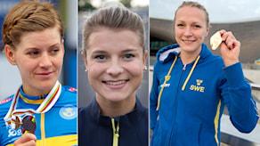 Emma Johansson, Jenny Rissveds och Sarah Sjöström toppar medaljbarometern.