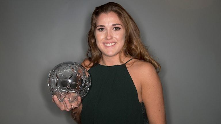 Filippa Angeldahl tilldelas priset Damallsvenskans mest värdefulla vid Fotbollsgalan 2017
