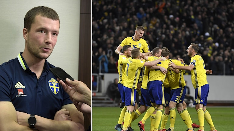 Jakob Johansson sköt Sverige till VM med det enda målet i playoffmötet med Italien.