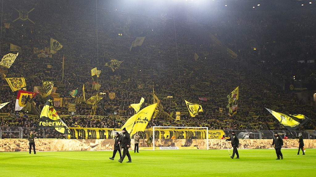 Publik på tyska laget Dortmunds hemmaarena.
