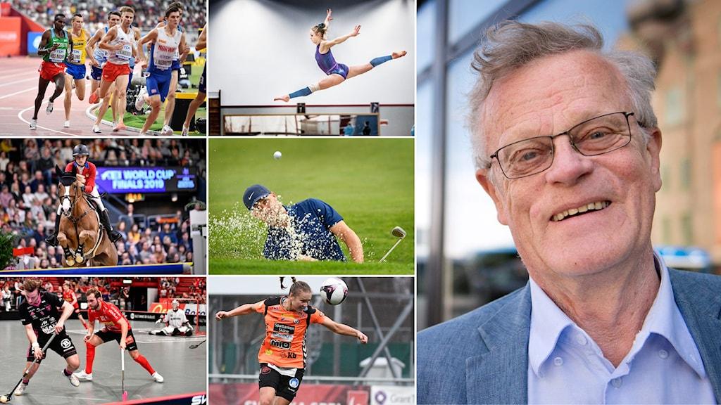 Björn Eriksson och bilder från Sveriges största idrotter.