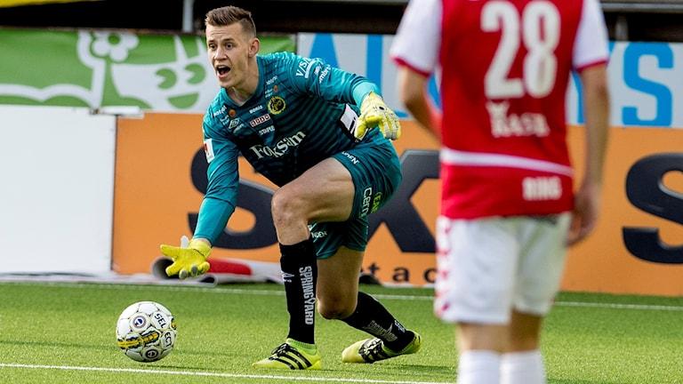 Elfsborgs debuterande målvakt David Olsson.