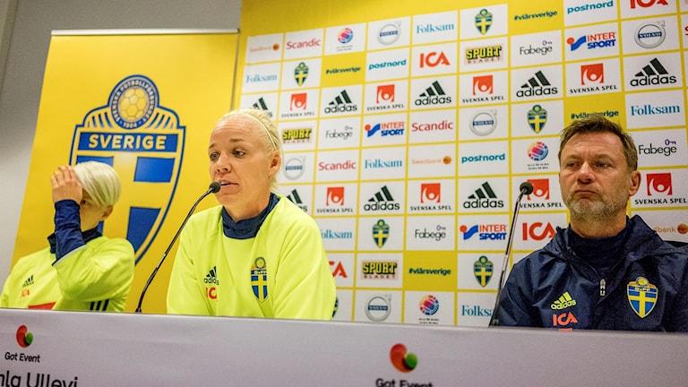 Caroline Seger är negativ till att spela matchen mot Danmark vid ett senare tillfälle.