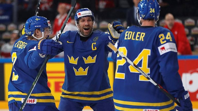 Alexander Edler, Joel Lundqvist och John Klingberg