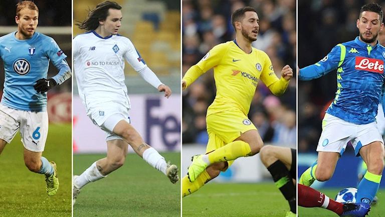 Dynamo Kiev, Chelsea och Napoli är tre lag som Oscar Lewickis Malmö FF kan ställas mot.