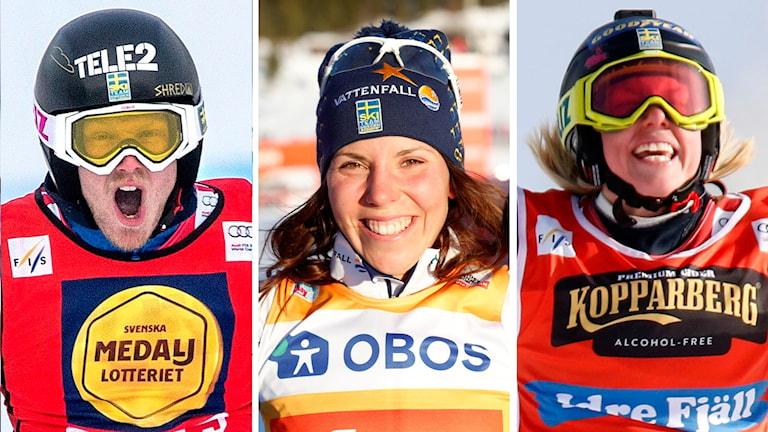 Victor Öhling Norberg, Charlotte Kalla och Sandra Näslund  guldfavoriter.