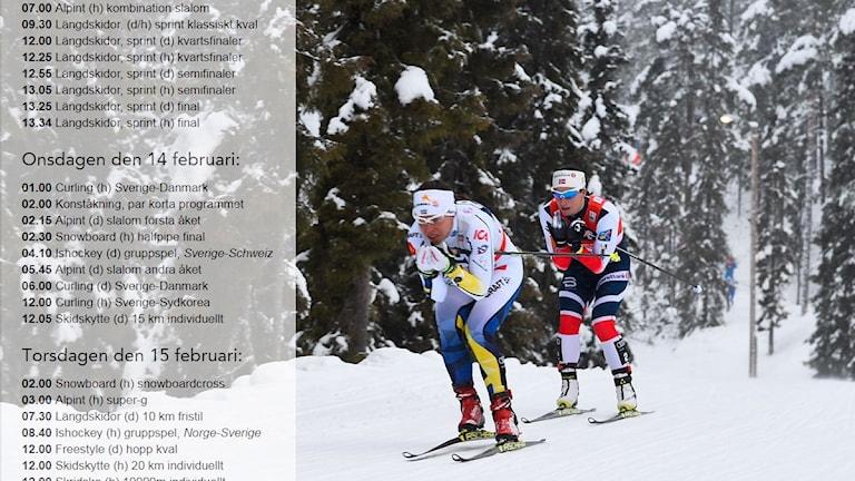 Bild till tävlingsprogram OS 2018