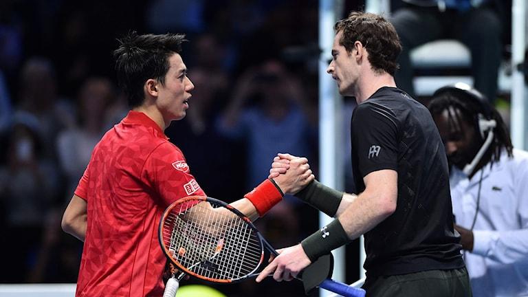 Kei Nishikori och Andy Murray.