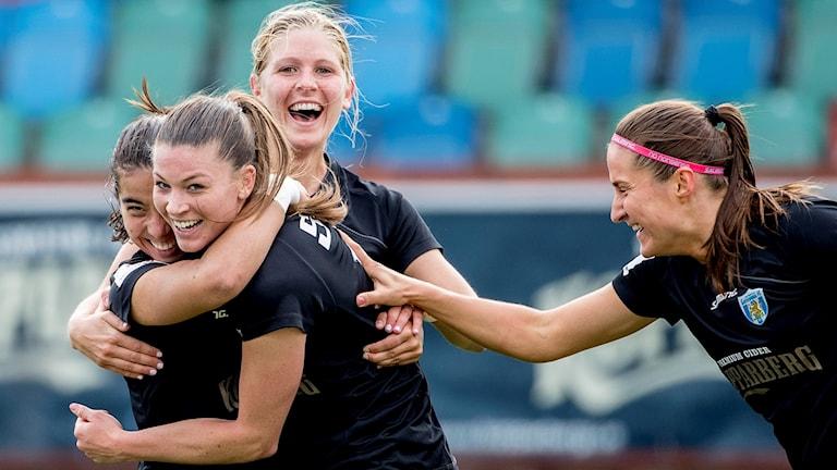 Göteborgsspelare firar