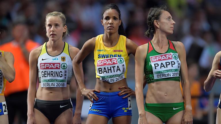 BERLIN 20180808 Meraf Bahta vid damernas final på 10 000 m under friidrotts-EM i Berlin, Tyskland. Foto: Jessica Gow / TT