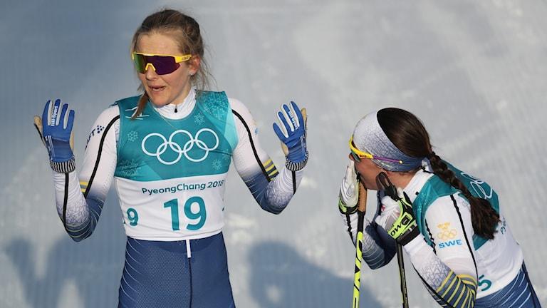Stina Nilsson chockad efter bronset.