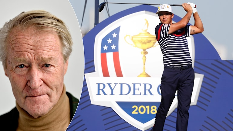 Göran Zachrisson om Ryder Cup. Foto: TT, collage SR
