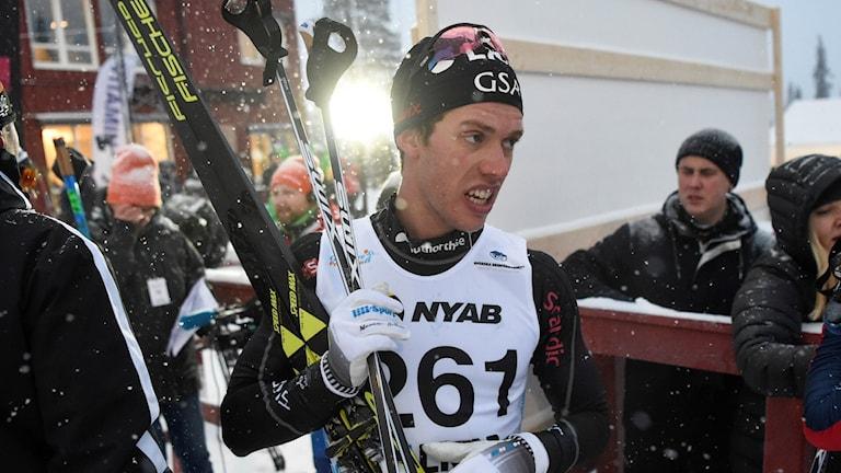GÄLLIVARE 20171117 Marcus Hellner efter 10km fristil efter Sverigepremiären i skidor Gällivare. Foto: Ulf Palm / TT