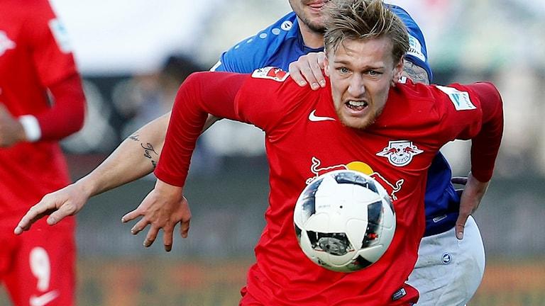 Emil Forsberg och hans Leipzig slutade tvåa i Bundesliga.