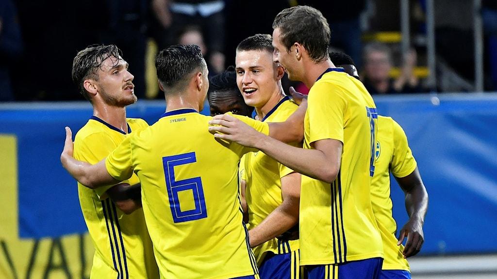 Svenskt jubel mot Ungern i U21-EM-kvalet.