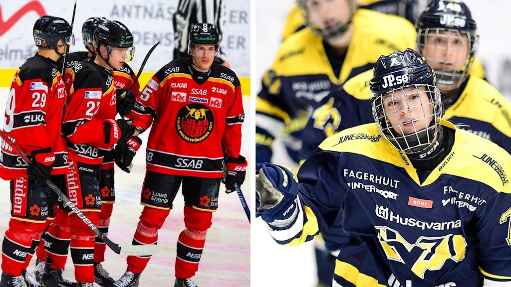 Luleås herrar och HV71:s damer.