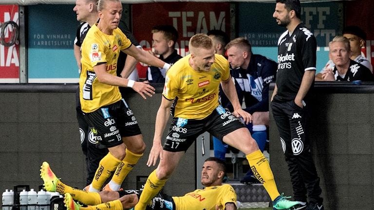Elfsborgs Per Frick kvitterade i sista sekund under måndagens allsvenska fotbollsmatch mellan IF Elfsborg och IFK Göteborg på Borås Arena.