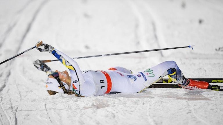 Stina Nilsson vann sprinten i Davos.