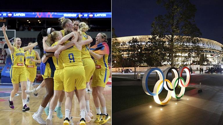 Basketdamernas OS-kval. Foto: Ieva Makare och Jae C. Hong/TT