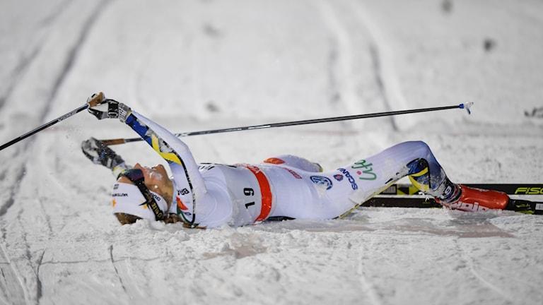 Stina Nilsson vann sprinten i Ruka.